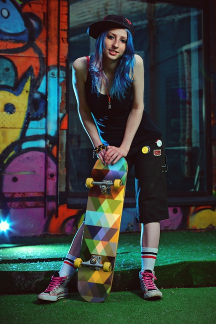 Скейт Кристална дъга (стикер)