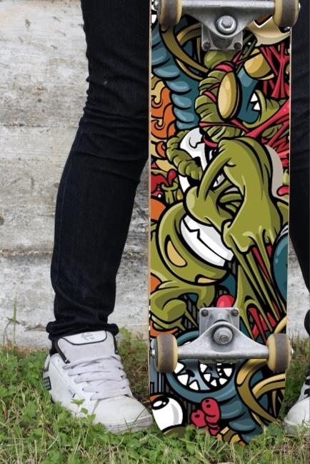 Скейт Пого (стикер)
