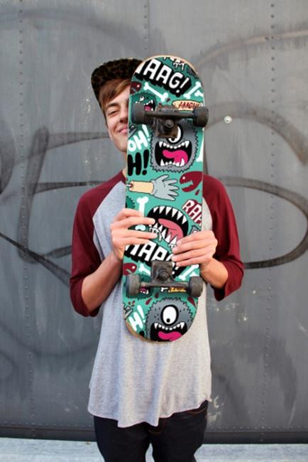 Скейт Обедна почивка (стикер)
