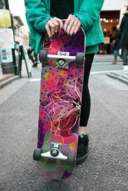 Скейт Нео-хипария ( стикер)