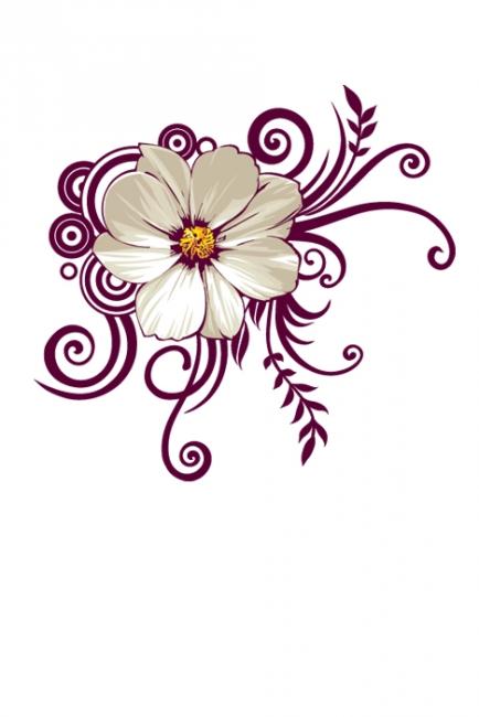 Цвете с илюстрация