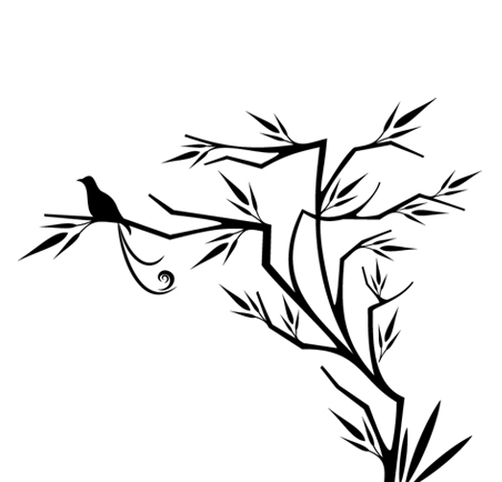 Птица на дърво